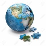 18515005-Concepto-del-rompecabezas-de-la-globalizaci-n-sobre-la-Tierra-3d-fondo-blanco-Foto-de-archivo